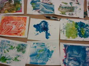 A Good Day for Monoprinting