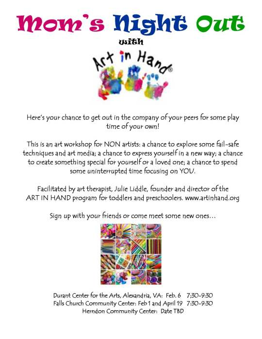 Introducing MOMS NIGHT OUT with Art In Hand